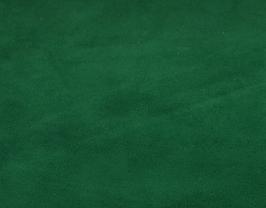 Coupon de cuir d'agneau velours vert sapin