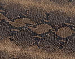 Morceau de cuir de chèvre kaki et beige imprimé python