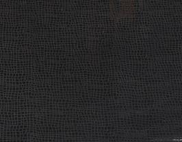 Morceau de cuir de vachette noir imprimé brillant