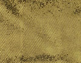 Coupon de cuir de vachette doré métallisé