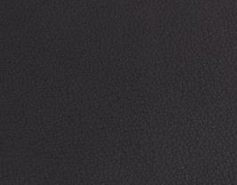 Coupon de cuir de vachette noir grainé