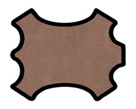 Demi peau de vachette marron clair vintage