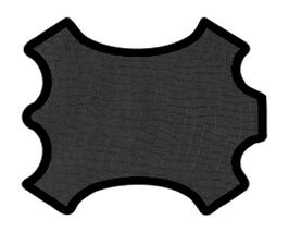 Demi peau de vachette noir imprimée crocodile