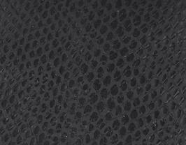 Coupon de cuir de chèvre noir imprimé serpent