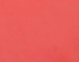Coupon de cuir d'agneau velours rose vif