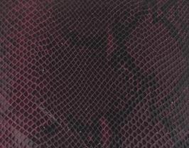 Coupon de cuir de veau noir et rose imprimé python