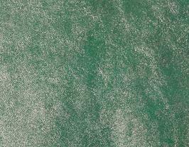 Coupon de cuir de vachette vert émeraude métallisé