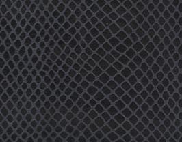 Coupon de cuir de vachette noir imprimé serpent