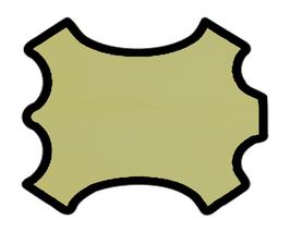 Peau de chèvre jaune pâle
