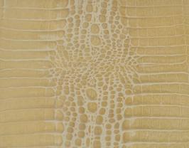 Coupon de cuir de vachette doré imprimé crocodile