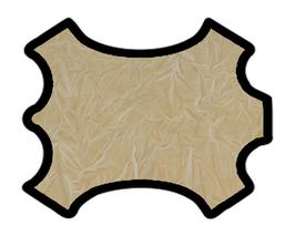 Peau de vachette beige froissé