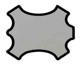 Peau d'agneau nappa gris clair