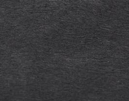 Coupon de cuir de chèvre noir à poils