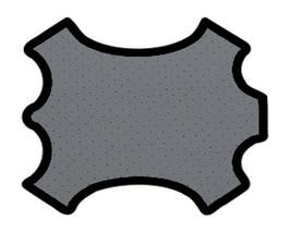 Demi peau de vachette perforée gris moyen
