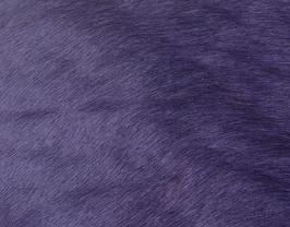 Coupon de cuir de vachette à poils violet