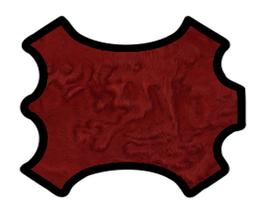 Peau d'agneau lainé astrakan rouge foncé
