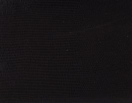 Coupon de cuir d'agneau noir imprimé lézard