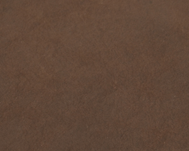 Coupon de cuir de veau nubuck marron