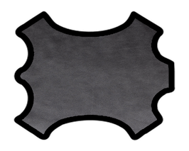 Demi peau de vachette grainée noir argenté