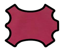Peau d'agneau rouge framboise