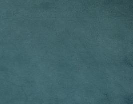 Coupon de cuir d'agneau velours bleu pétrole