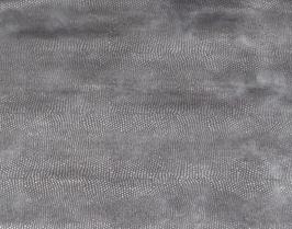 Morceau de cuir de vachette bleu argenté imprimé lézard