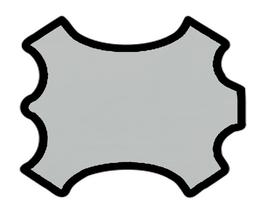 Peau d'agneau velours gris clair