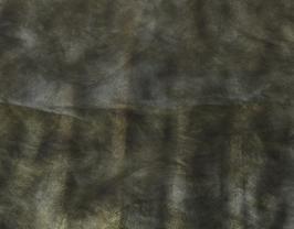 Morceau de cuir de vachette vert doré