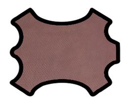 Demi peau de vachette bourgogne imprimée crocodile