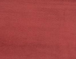 Morceau de cuir de vachette rouge pourpre imprimé grainé