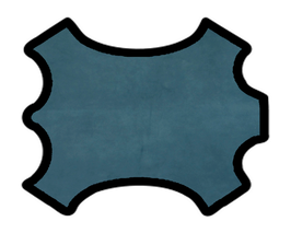 Peau de chèvre velours bleu pétrole