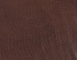Morceau de cuir de vachette marron imprimé crocodile
