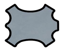 Peau d'agneau velours bleu jeans