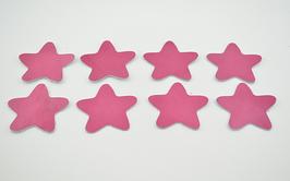 8 étoiles en cuir d'agneau rose vernis