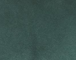 Coupon de cuir d'agneau velours vert forêt métallisé