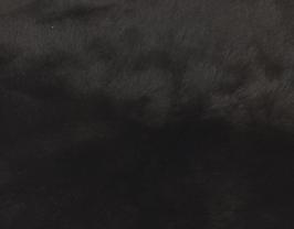 Morceau de cuir d'agneau lainé double face noir et marron pailleté