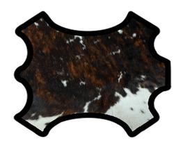 Demi peau de vachette à poils marron foncé