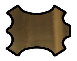 Peau d'agneau nappa doré doublé tissu