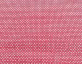 Coupon de cuir de vachette suède rose imprimé étoiles