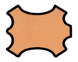 Peau de veau nubuck abricot