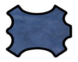 Peau de veau gaufré bleu marine