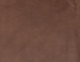 Morceau de cuir de vachette grainé châtaigne