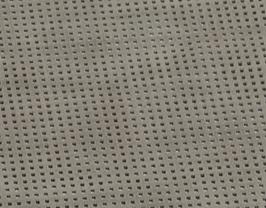 Morceau de cuir de vachette velours perforé beige