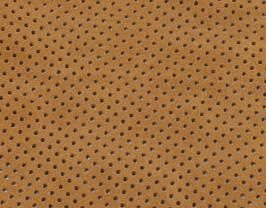 Morceau de cuir de vachette velours perforé tabac