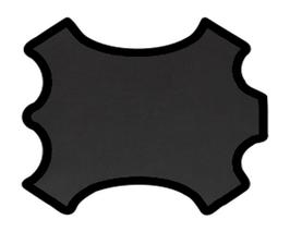 Demi peau de vachette grainée noire