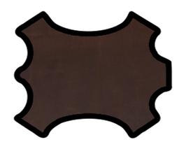 Demi peau de vachette grainée marron vintage