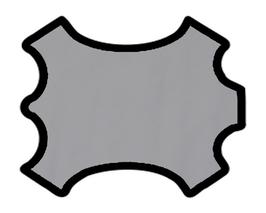 Demi peau de vachette gris clair
