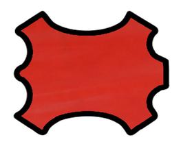 Peau de veau rouge