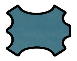 Peau de chèvre bleu lagon