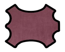 Demi peau de vachette nubuck lie de vin vintage